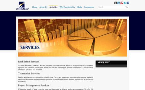 Screenshot of Services Page optimead.com - OPTIMEAD :: Services - captured Oct. 7, 2014