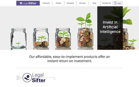 Screenshot of Pricing Page legalsifter.com - LegalSifter | Affordable Artificial Intelligence pricing - captured June 19, 2018