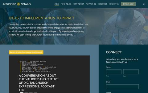 Screenshot of Home Page leadnet.org - Home | Leadership Network - captured March 21, 2019