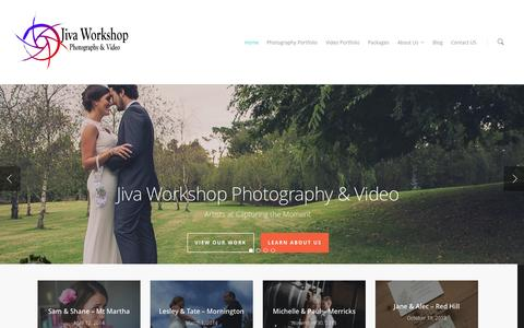 Screenshot of Home Page jivaworkshop.com.au - Jiva Workshop Photography & Video - captured Sept. 30, 2014
