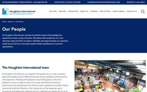Screenshot of Team Page houghton-international.com - Our People: One Team | Houghton International - captured Dec. 16, 2018