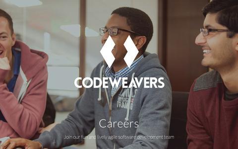 Screenshot of Jobs Page codeweavers.net - Codeweavers   Careers - captured Sept. 29, 2016