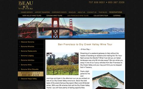 Dry Creek Valley Wine Tours from San Francisco by Limousine