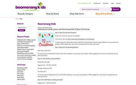 Screenshot of Blog boomerangkids.com - Boomerang Kids | Boomerang Kids - captured Jan. 14, 2016