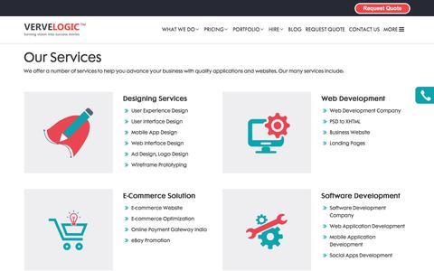 Screenshot of Services Page vervelogic.com - Verve Logic   Services - captured June 12, 2017