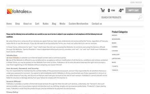 Screenshot of Terms Page folktales.in - Folktales - captured Oct. 6, 2014