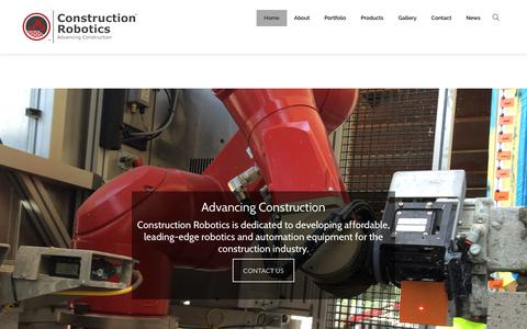 Screenshot of Home Page construction-robotics.com - Construction Robotics – Advancing Construction - captured July 21, 2018