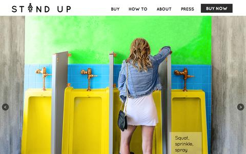 Screenshot of Home Page the-stand-up.com - Stand Up and Join the Urination - captured Dec. 13, 2014