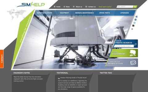 Screenshot of Home Page simhelp.com - Everything for Full Flight Simulation - SimHelp - captured Sept. 17, 2015