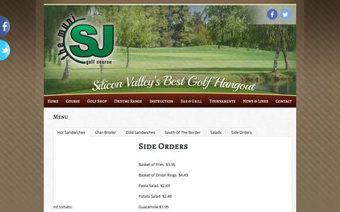 Screenshot of Menu Page sjmuni.com - Menu   San Jose Municipal Golf Course - captured Oct. 4, 2017
