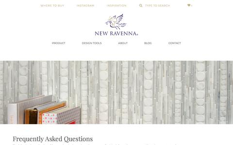 Screenshot of FAQ Page newravenna.com - Frequently Asked Questions - New Ravenna : New Ravenna - captured July 20, 2019
