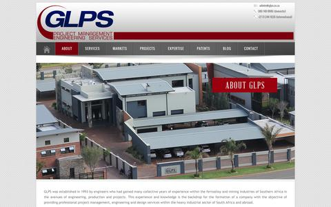 Screenshot of About Page glps.co.za - GLPS - About - captured Dec. 6, 2015