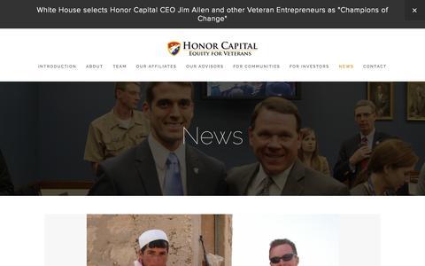 Screenshot of Press Page honorcapitalllc.com - News — Honor Capital - captured Oct. 28, 2014