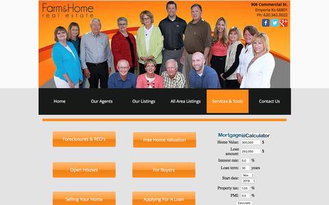 Screenshot of Services Page farmandhomecompanies.com - Real Estate Tools - captured Nov. 25, 2016