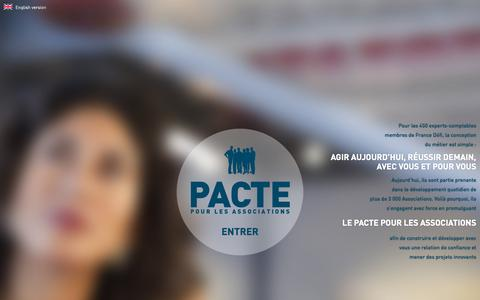 Screenshot of Home Page le-pacte-pour-les-associations.fr - Le pacte pour les associations - captured Sept. 11, 2015
