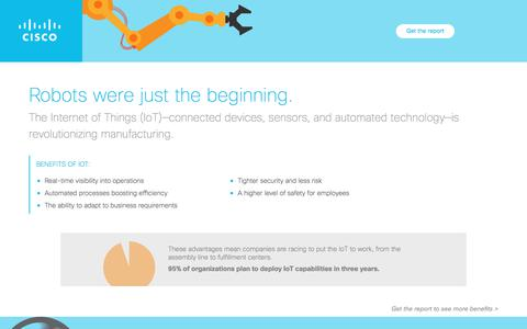 Screenshot of Landing Page cisco.com - Revolutionize Industrial Networking - captured Nov. 28, 2017