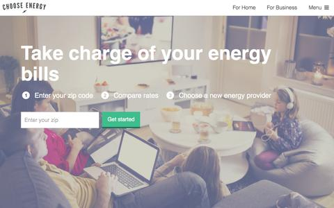 Screenshot of Home Page chooseenergy.com - The Power To Choose Energy Is Yours - Switch & Save | Choose Energy - captured Oct. 1, 2015