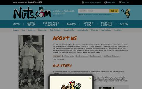 Screenshot of About Page nuts.com - About Us Ń Nuts.com - captured Jan. 13, 2016