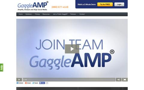 Screenshot of Jobs Page gaggleamp.com - Work at GaggleAMP | GaggleAMP - captured July 18, 2015