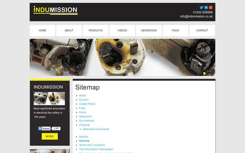 Screenshot of Site Map Page indumission.co.uk - Sitemap - captured Oct. 2, 2014