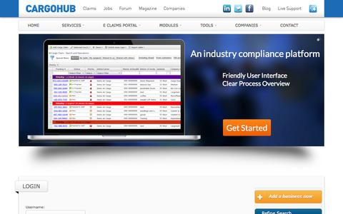 Screenshot of Login Page cargohub.nl - Login - captured Oct. 1, 2014