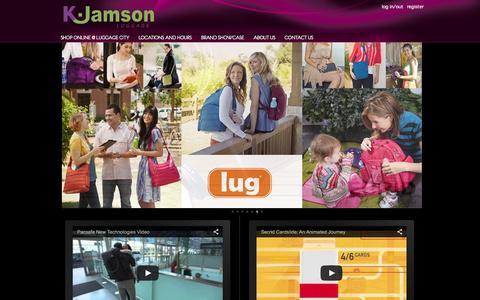 Screenshot of Home Page kjamson.com - K.Jamson - K.Jamson - captured Jan. 20, 2016