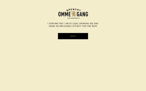 Screenshot of Home Page ommegang.com - Brewery Ommegang – Where Heaven met earth ... and stayed awhile. | Brewer of Belgian-Style Beers in America - captured Sept. 14, 2019