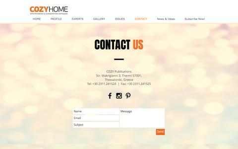 Screenshot of Contact Page cozyhome.gr - contact - captured Jan. 24, 2017