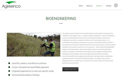 Screenshot of Services Page agreenco.co.za - Services - Agreenco - captured Nov. 20, 2016
