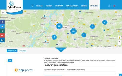 Screenshot of Login Page cyberforum.de - Login - captured Nov. 15, 2016