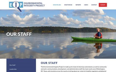 Screenshot of Jobs Page environmentalintegrity.org - Environmental IntegrityOur Staff | Environmental Integrity - captured Aug. 13, 2017