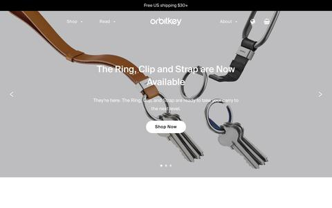 Screenshot of Home Page orbitkey.com - Clever Organisation for Better Living – Orbitkey - captured Aug. 16, 2018