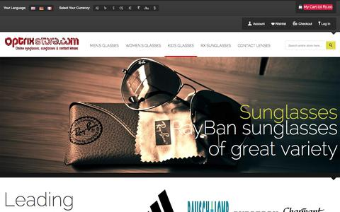 Screenshot of Home Page optrixstore.com - OptrixStore.com - Buy online Eyeglasses,Sunglasses & Contact Lenses! - captured Oct. 21, 2014