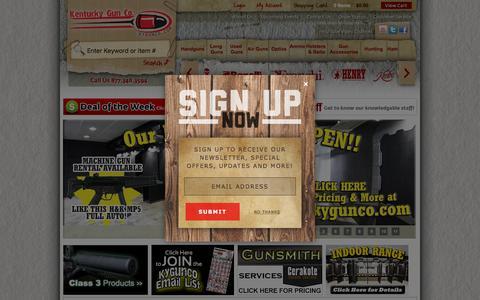 Screenshot of Home Page kygunco.com - Guns For Sale Online - Kentucky Gun Co. - captured Feb. 8, 2016