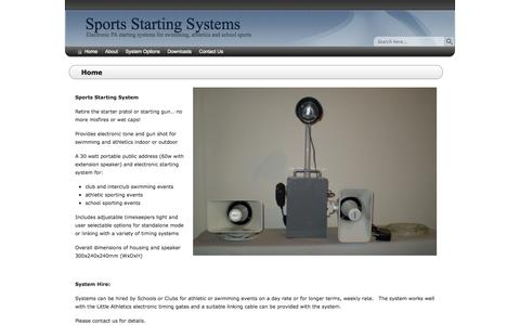 Screenshot of Home Page sportsstartingsystems.com.au - Home - Sports Starting Systems - captured Oct. 1, 2014