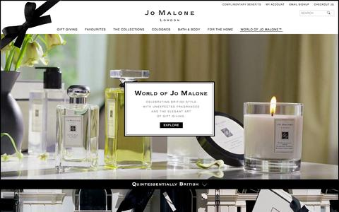 Screenshot of About Page jomalone.co.uk - World of Jo Malone | Jo Malone London - captured Jan. 18, 2016