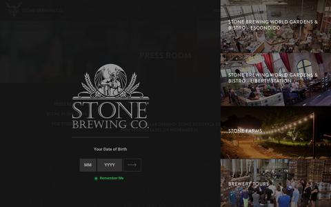 Screenshot of Press Page stonebrewing.com - Press Room | Stone Brewing Co. - captured Nov. 17, 2015