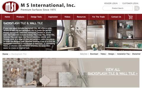 Screenshot of msistone.com - Backsplash Tile | Kitchen Backsplashes | Wall Tile - captured March 17, 2017