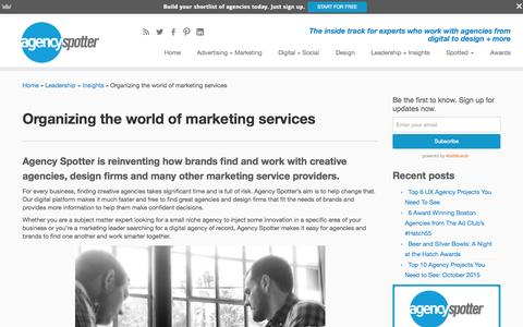 Screenshot of About Page agencyspotter.com - About Us - Agency Spotter - Find Creative Agencies - captured Oct. 31, 2015