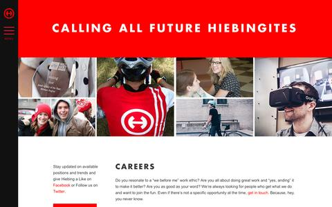 Screenshot of Jobs Page hiebing.com - Careers - Hiebing - captured Jan. 10, 2017