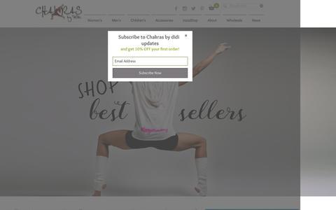 Screenshot of Home Page chakrasbydidi.com - Chakras by didi - stylish yoga inspired apparel - captured May 16, 2017
