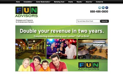 Screenshot of Home Page Maps & Directions Page funadvisors.com - Family Entertainment Centers - captured Sept. 30, 2014