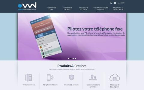 Screenshot of Home Page sewan.fr - Sewan Communications - captured Sept. 23, 2014