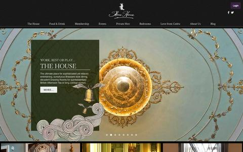 Screenshot of Home Page homehouse.co.uk - Home House - captured July 24, 2015