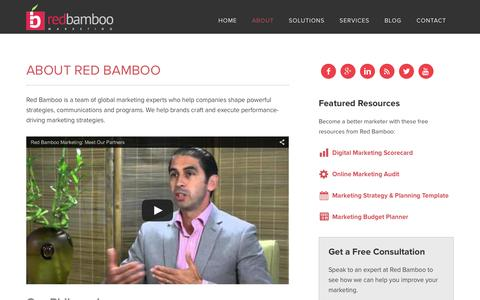 Screenshot of About Page redbamboomarketing.com - About Red Bamboo Marketing | NJ Marketing Agency - captured Dec. 29, 2015