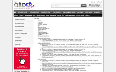 Screenshot of Site Map Page orderstar.co.uk - Sitemap - captured Sept. 30, 2014