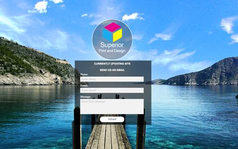 Screenshot of Home Page superiorprintdesign.com - Welcome - captured Oct. 7, 2014