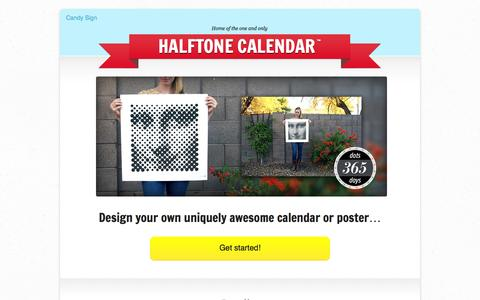 Screenshot of Home Page candysign.com - Candy Sign • Home of the Halftone Calendar - captured Sept. 26, 2014