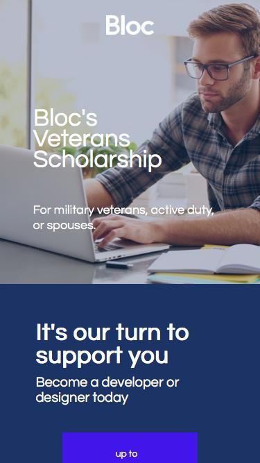 Bloc | Veterans Scholarship