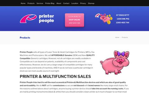 Screenshot of Products Page printerpeople.com.au - Products | Printer People - captured July 21, 2018